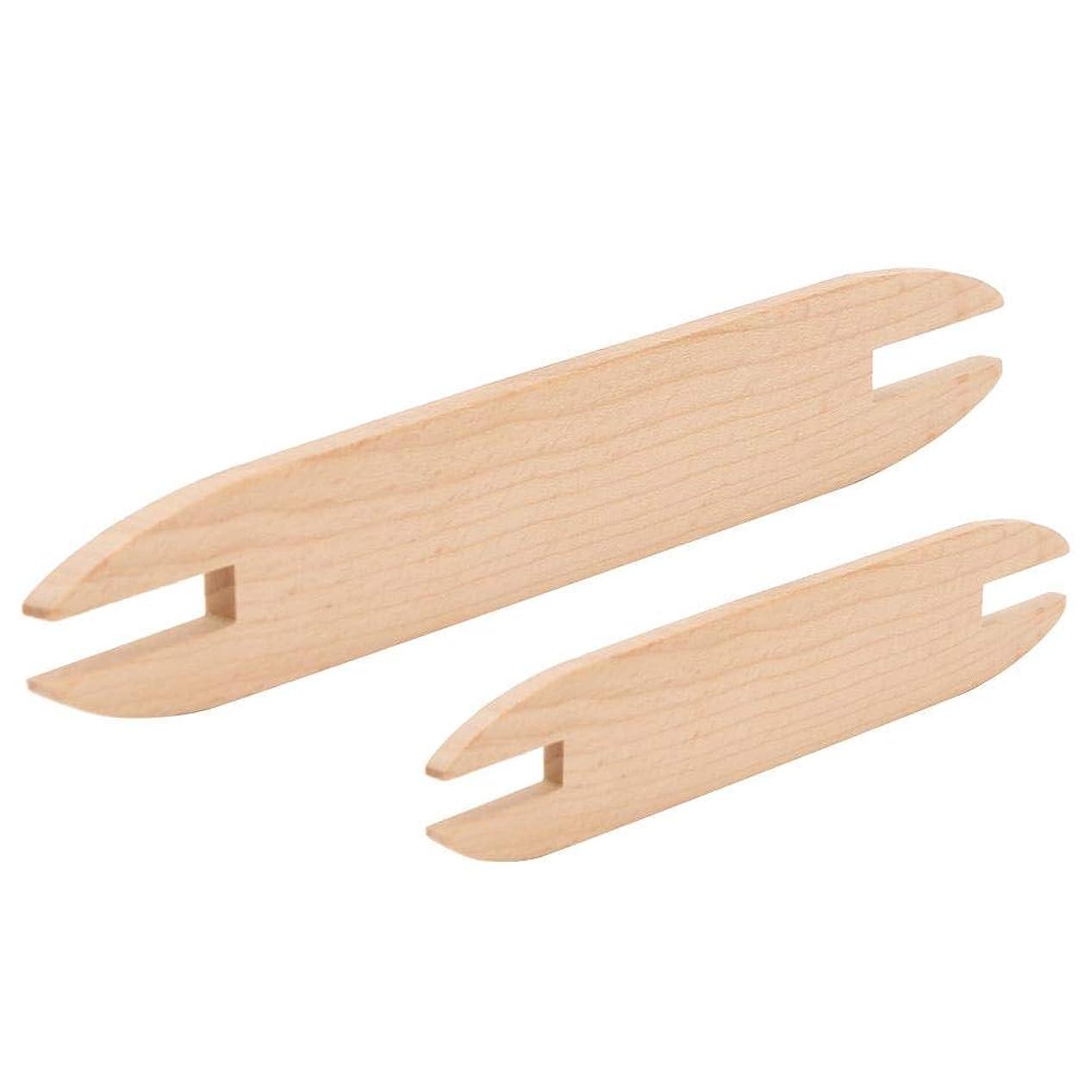 消す呼ぶ死DIY織りツール、木製シャトル、高品質の木材製織シャトル、ソーイングプロセス編み糸掃除が簡単耐久性