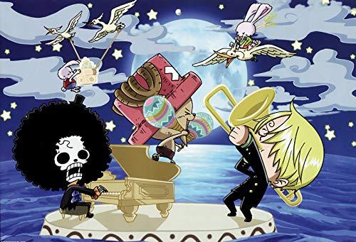 ZKPZYQ Anime One Piece - Puzle creativo de 1000 piezas, rompecabezas clásicos, desafío, rompecabezas, regalo