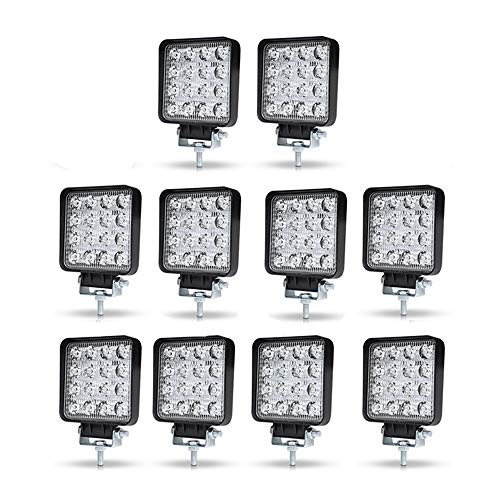 WELLIT 10X 48W LED Arbeitsscheinwerfer Offroad Scheinwerfer Traktor Für Jeep Bagger SUV