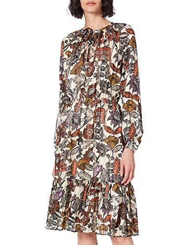 Scotch & Soda Maison Damen Midikleid mit Schleife Kleid, 0217 Combo A, S