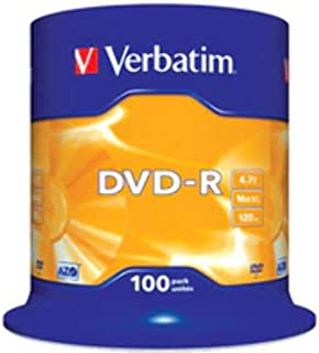 Verbatim DVD R 16 x 4,7 GB TARRINA 100 Stück 43549 (4)