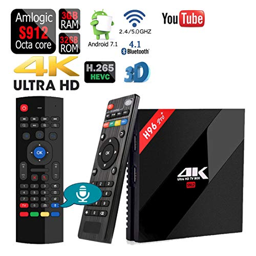 Apes H96 Pro+ Dual WiFi 5G Octa Core 32GB/3GB Android 1080p 4K 3D Amlogic S912 Bluetooth 4.1 TV Box + Air Mouse Keyboard Google Voice Remote