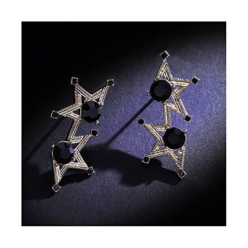 Jambala Pendientes de Estrellas de Cinco Puntas Temperamento Coreano Estrella Pendientes Femeninos Versión Coreana de la Personalidad Pendientes Cortos de Moda Oreja Simple