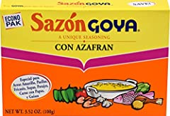 3.52 oz box Inside this box you'll find the secret to creating the authentic flavors of Latino cuisine. Just one packet makes a world of difference. If it's Goya. it has to be good! Adds flavor and color to your meal