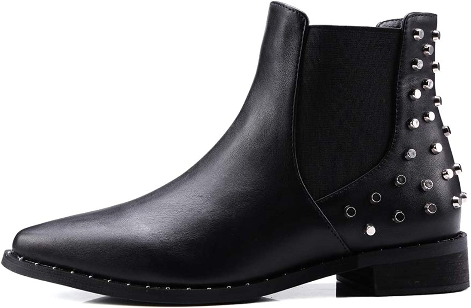 Believed Plus Size Women Flat Ankle Snow Motorcycle Boots Female Suede Leather Lace-Up Boot