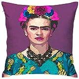 Funda De Almohada Tienda De Libros De Moda Del Albergue Frida Kahlo Funda De Almohada Especial Funda De Cojín De Hospital Sofá De Casa De Vacaciones Acogedor Regalo Suave Unisex D 45X45cm