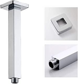 Artbath Rain Shower Arm Square 200mm(7.9 inch) Ceiling Mounted Arm Brass for Shower Head with Flange,Chrome Finished