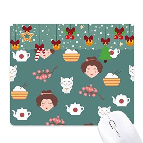 Kat Sakura rijst theepot Japan Mouse Pad Game Kantoor Mat Kerstmis Rubber Pad