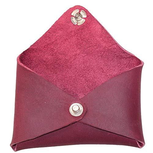 Sangria - cartera de piel rústica con forma de sobre, diseño de Sangria