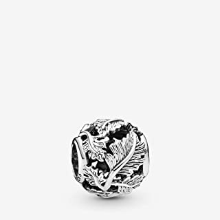 Openwork Leaves 925 Sterling Silver Charm - 798241