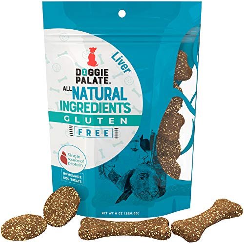 Premium All Natural, Healthy, Fresh, Gluten Free, Real Liver Flavor Dog Treats, Cookies, Biscuits, 8oz Bags, Made in The USA by Doggie Palate, No fillers or byproducts