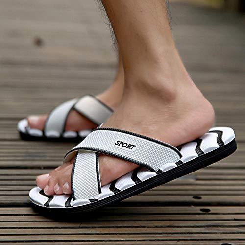 Nwarmsouth Massage Schuhe,Sommer zu Hause Massage Sandalen und Hausschuhe, Bad Bad Sandalen, White_38,Unisex-Erwachsene Slide Sandalen