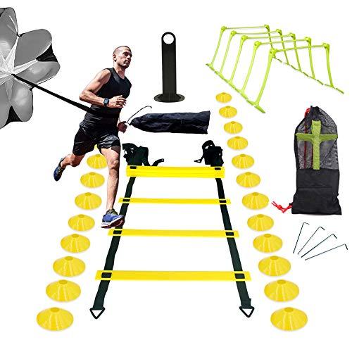 InLoveArts Ensemble d'entraînement d'échelle de vitesse,kit d'entraînement de flexibilité de...