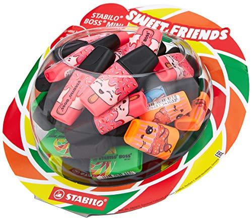 STABILO Textmarker BOSS MINI Sweet Friends, Bonbon-Display, 50 Stück