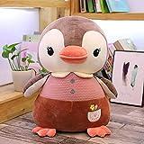 GINDU 35-65 cm Pingüino Pantalla de Juguete de Peluche Ragdoll Almohada Acuario Día de los niños Regalo-Brown_55cm (Color : Brown , Size : 55CM )