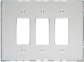 GlassAlike Triple Decora Acrylic Mirror Switch Plate