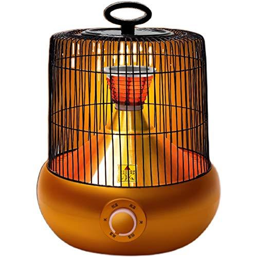 DYCLE Calentador de Patio eléctrico, Elemento Calefactor de Cristal de Carbono, calefacción cómoda de 2 Niveles, Calentador de Jaula de pájaros Interior al Aire Libre