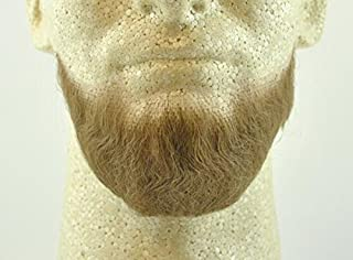 Full Chin Beard LIGHT BROWN w/ Spirit Gum- no. 2023 - REALISTIC! 100% Human Hair - Perfect for Theater and Stage ! Reusable