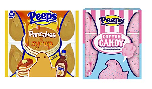Peeps Flavored Marshmallows  2 Pack Bundle Pancakes amp Syrup and Cotton Candy