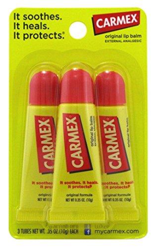 Carmex Original Flavor Moisturizing Lip Balm Tube Value Pack035 Ounce 3 Count