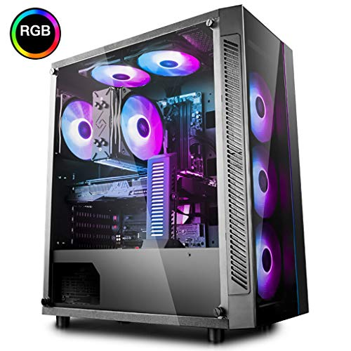 XZ15 Zwart gehard glas middelgrote toren PC game case, E-ATX/ATX/MICRO ATX/MINI-ITX, ondersteuning waterkoeling, snelle overdracht USB3.0