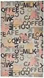 Catral 40020034 Alfombra Cocina y Pasillo café, Poliester y Caucho, Marrón, Rosa y Amarillo, 50 x 90 cm
