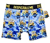 Bioworld Men's Despicable Me Minions Boxer Briefs, Blue, Small