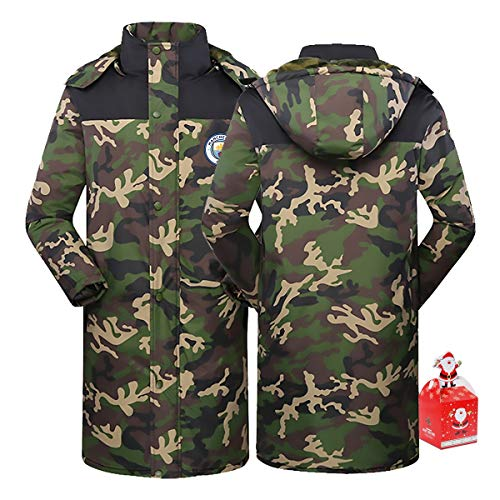 David Silva 21# Women's Long Cotton Coat Thick Camouflage Warm Hoodie,Couple Clothes Winter Youth Gift XS-5XL (Color : B, Size : X-Small)