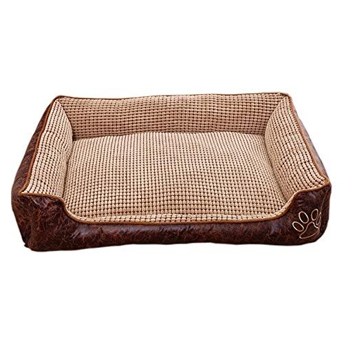 JKLKLHT Cama cálida para perros pequeños y grandes, acogedora, reversible, mascota, cachorro, camas para perros grandes, sofás, Chihuahua, casa de perrera, productos para mascotas (café3,L)