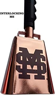 Copper-Plated Mississippi State Cowbell - Interlocking MS (10