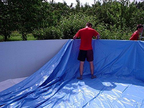 Poolinnenfolie blau Poolfolie geeignet für Stahlwandpools mit Ø 360 x 120 cm