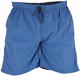 D555 by Duke Kingsize Big Mens Swim Shorts, Full Length Nylon, Elasticated Waist, Royal Blue (2XL-6XL)