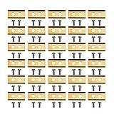 Baugger 30 Piezas de Cuchillas de a de césped recubiertas de Titanio + 60 Piezas de Tornillos de...