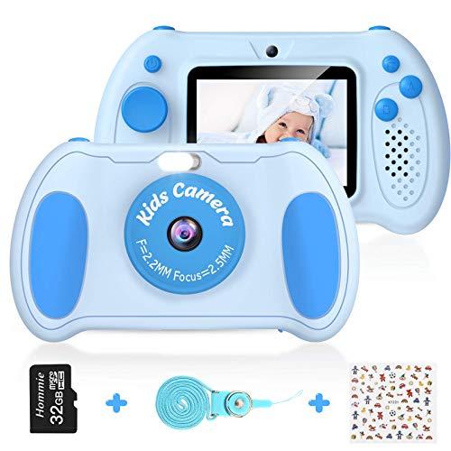 """Cámara Digital para Niños, Hommie 32GB Camara Fotos Infantil de Doble Lente 1200MP/ 1080P con Speedlite, 3 Juegos y Reproductor MP3, Cámara para Niños de 2.4"""" Pantalla, Regalos para 3 a 12 Años"""