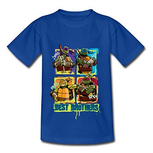 TMNT Turtles Donnie Leo Mikey Raph Best Brothers Kinder T-Shirt, 122-128, Royalblau