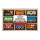 Melissa & Doug- Set Ferroviario in Legno, Multicolore, 5186