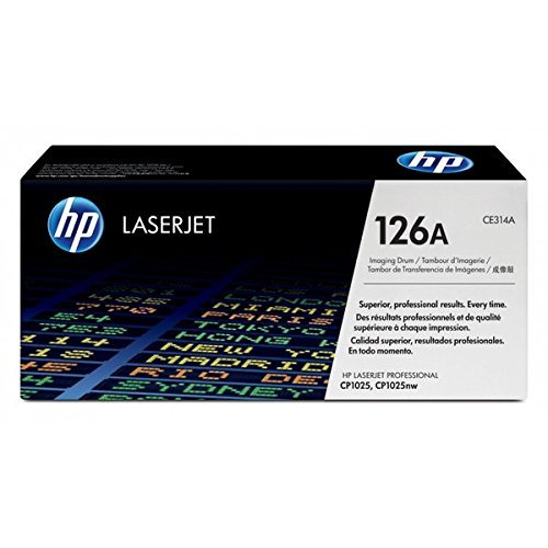 Hewlett-Packard CE314A CE 314A - Tambor original para HP Laserjet PRO 100 Color MFP M 175 E (500 hojas de papel Ti-Sa, 80 g, aprox. 14.000 páginas), color blanco