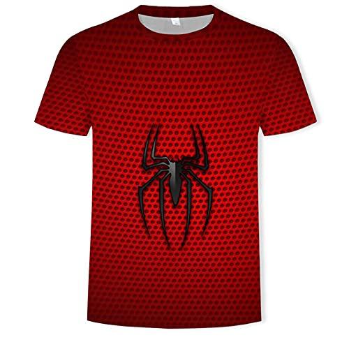 KKJKK Peter Parker Disfraz de Spiderman Carnaval de Halloween Cosplay Mono Body Disfraces de Halloween Atrezzo Camisetas Novedad Camiseta de Manga Corta para Hombres Vengadores(Size:XXL)