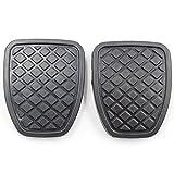 KOAUTO 2Pcs Brake & Clutch Pedal Pad Rubber Cover for Subaru Forester MT...