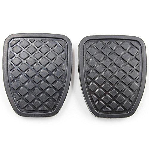 KOAUTO 2Pcs Brake & Clutch Pedal Pad Rubber Cover for Subaru Forester MT 36015GA111
