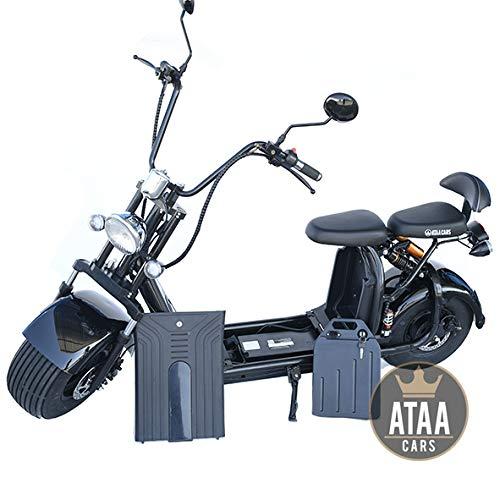 ATAA Citycoco Matriculable Doble Batería extraíble 60v - Motor 1500w. Scooter eléctrico homologada con Dos baterías extraíbles 60v Cada una