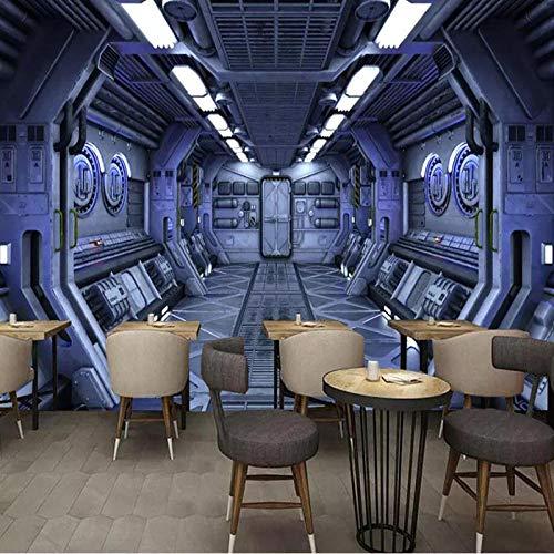 Tapete 3D-Effekt Wandtattoo 400 * 280Cm Science-Fiction-Raumkapsel Sternenhimmel Universum Fototapete 3D Selbstklebendes Wandbild Wandsticker Wandaufkleber Geschenk Dekoration Für Kinderzimmer