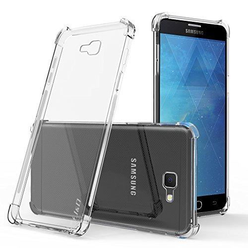 JundD Kompatibel für Samsung Galaxy On7 Prime (2018) Hülle, [Eckpolster] [Leichtgewichtig] [Ultra-Durchsichtig] Stoßfest Schützend Dünn Silikon Stoßschutzhülle - [Nicht für On7 Prime 2016] - Transparent