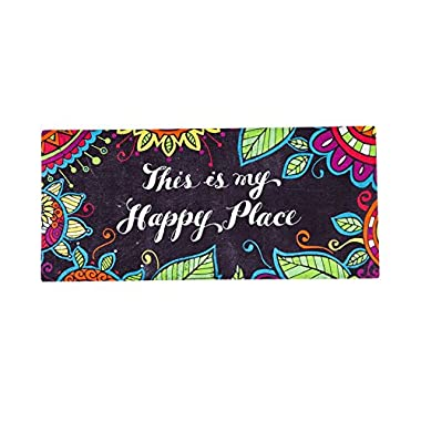 Sassafras Decorative Mat Set, Mat size: 10x22 Inches, Scroll Mat Fram Size: 18x30 Inches, This Is My Happy Place