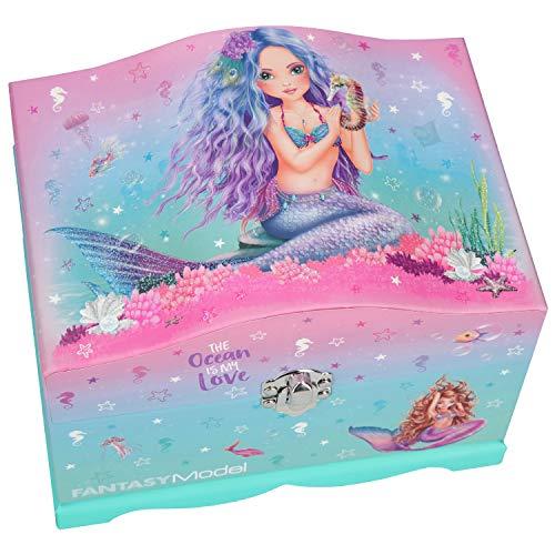 Depesche 10948 Schmuckschatulle Fantasy Model Mermaid, mit Licht, ca. 18,5 x 13,5 x 14 cm