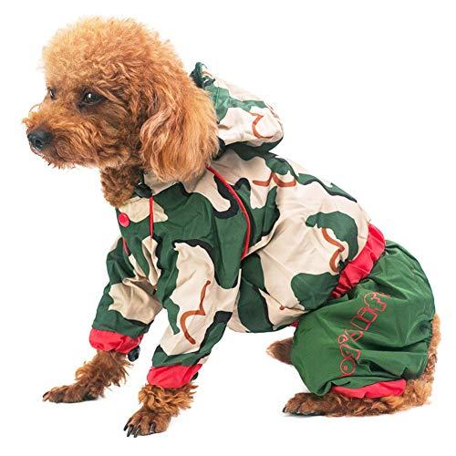 AGN hond universele huisdier universele outdoor waterdichte winddichte winddichte hond jas, hond regenjas, 8th, Leger groen