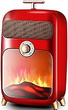 YAMMY Elektrisch vuur, elektrisch fornuis, elektrische retro 900W houtkachel kachel kachel kachel W vlameffect vuur vrijst...