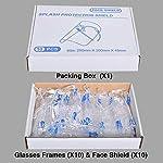 Pantalla de Proteccion Facial, LETOUR 10 Pcs de Cara Completa de Plástico Reutilizable Gafas protect... #1