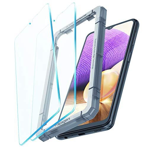 Spigen AlignMaster Tempered Glass Screen Protector for Galaxy A32 5G - 2 Pack