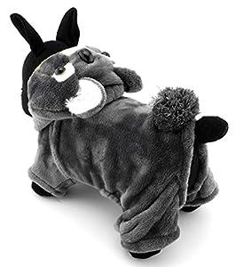 Zunea Chien mignon Koala Costume d'Halloween Animal Pyjama combinaison en velours doux et chaud Cosplay Vêtements tenues de fête, pour petit chiot Cat